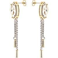 Karen Millen Galactic Swarovski Crystal Chain Drop Earrings, Silver/Gold