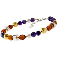 Be-Jewelled Amethyst and Amber Necklace, Multi