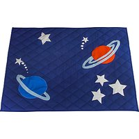 Kiddiewinkles Children's Outer Space Play Space Quilt, Large