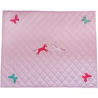 Kiddiewinkles Children's Unicorn & Butterfly Playspace Quilt, Large