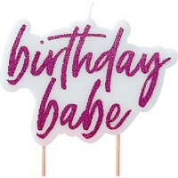 Ginger Ray Birthday Babe Candle, Pink