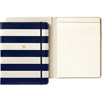 kate spade new york Leatherette Folio Notepad, Navy Stripe