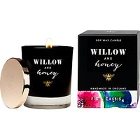 Willow and Honey Fig and Cassis Candle, Black, 220g