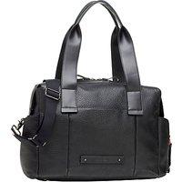 Storksak Kym Leather Changing Bag, Black