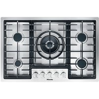 Miele KM2335 Gas Hob, Stainless Steel