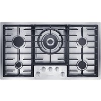 Miele KM2357 Gas Hob, Stainless Steel