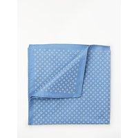 John Lewis Floral Diamond Silk Pocket Square, Blue