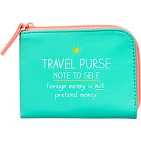 Happy Jackson Note To Self Travel Purse, Turquoise