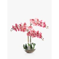 Peony Artificial Orchid in Fishbowl with Gravel, Large