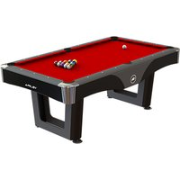 BCE Riley Ray 7ft American Pool Games Table, Red/Black