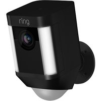 image-Ring Spotlight Cam Smart Security Camera with Built-in Wi-Fi & Siren Alarm, Battery Powered