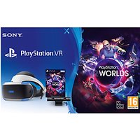 Sony PlayStation VR Gaming System with PlayStation Camera and VR Worlds PS VR Game