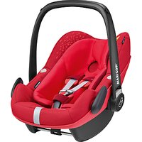 Maxi-Cosi Pebble Plus i-Size Group 0+ Baby Car Seat, Vivid Red