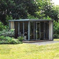 Crane Garden Buildings 3 x 3.6m The Hub Outdoor Right-Hand Corner Studio, FSC-Certified (Scandinavian Redwood)