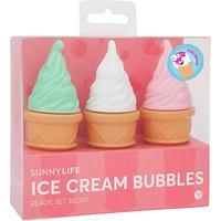 Sunnylife Ice Cream Bubbles, Pack of 3