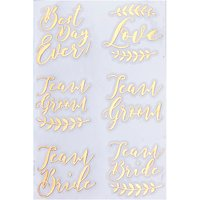 Ginger Ray Wedding Temporary Tattoos, Pack of 12