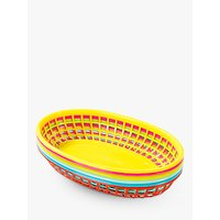 Talking Tables Plastic Food Baskets, Pack of 6
