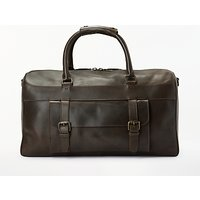 John Lewis Milan Leather Holdall, Brown