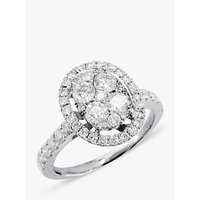 shop for E.W Adams 18ct White Gold Oval Diamond Cluster Ring at Shopo