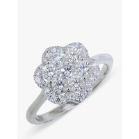 shop for E.W Adams 18ct White Gold Diamond Cluster Flower Ring at Shopo