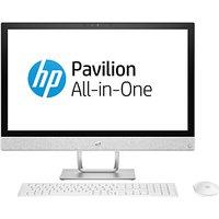 HP Pavilion 24-r077na All-in-One PC Desktop, Intel Core i7, 8GB RAM, 1TB HDD, AMD Radeon 530 2GB, Full HD, Blizzard White