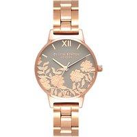 Olivia Burton OB16MV88 Women's Lace Detail Stainless Steel Strap Watch, Gold