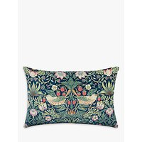 Morris & Co. Strawberry Thief Velvet Cushion, Multi