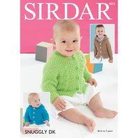 Sirdar Snuggly DK Baby Cardigans Knitting Pattern, 4876