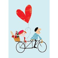 Art File Ink Press Tandem Bike Valentine's Day Card