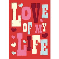 Art File Ink Press Love Of My Life Valentine's Day Card