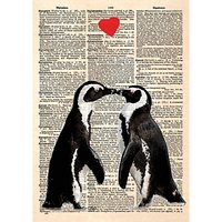 ArtPress The Penguin Lovers Valentine's Day Card at John Lewis Department Store