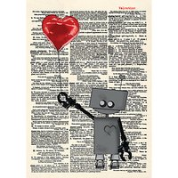 Artpress Robot Love Valentine's Day Card