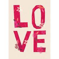 ArtPress Love Valentine's Day Card at John Lewis Department Store