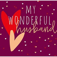 Belly Button Designs Wonderful Husband Valentine's Day Card at John Lewis Department Store