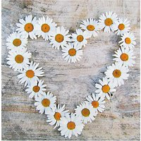 Icon Daisy Chain Heart Valentine's Day Card