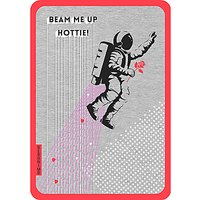 Art File Beam Me Up Valentine's Day Card