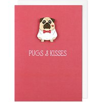 Tache Crafts Pugs & Kisses Valentine's Day Card