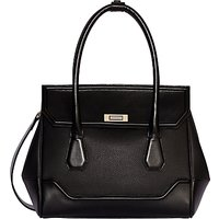 Modalu Hemingway Leather Small Grab Bag, Black