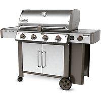 Weber Genesis II LX S-440 Stainless Steel 4 Burner Gas BBQ, Silver