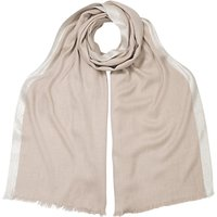 East Contrast Border Scarf, Stone