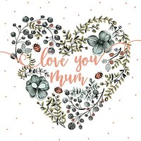 Art File Love You Mum Mother's Day Card