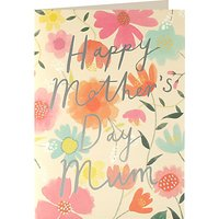 James Ellis Stevens Flowers Typography Mother's Day Card