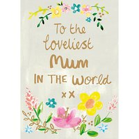 Paper Salad Loveliest Mum Mother's Day Card