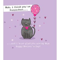 Saffron Cards And Gifts Cat Mother's Day Card