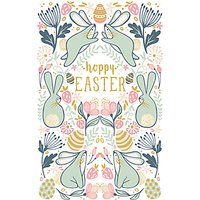 Art File Three Bunnies Easter Greeting Card
