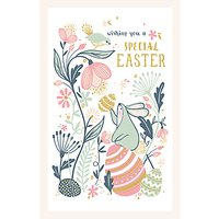 Art File Special Bunny Egg Easter Greeting Card