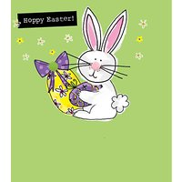 Saffron Cards And Gifts Bunny And Egg Easter Greeting Card