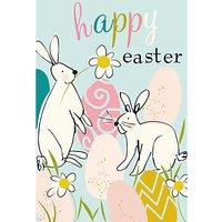 Caroline Gardner Bunny And Eggs Easter Greeting Card
