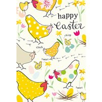 Caroline Gardner Chickens Pattern Easter Greeting Card
