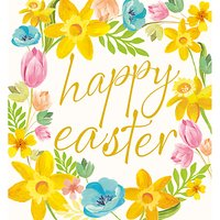 Caroline Gardner Chin Up Floral Easter Greeting Card